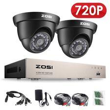 ZOSI Kit Vidéosurveillance CCTV DVR Système 8CH 720P avec 2 Caméras de Sécurité