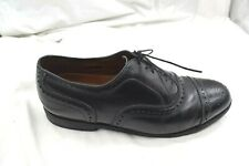 Allen Edmonds black leather wingtips Mens dress formal shoes sz 10E wide 22025
