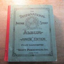 Scott International Postage Stamp Album with ~2100 stamps 1939 edition