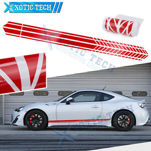 """86"""" Gloss Red Side Body Skirt Sport Style Decal Vinyl Sticker For Toyota Camry"""