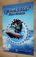 2001 Nintendo Super Smash Bros. Melee / Wave Race Blue Storm Poster Gamecube