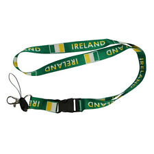 IRELAND GREEN COUNTRY FLAG LANYARD KEYCHAIN PASSHOLDER .. NEW