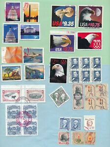 BIG LOT USA VF USED $ STAMPS MANY HIGH VALUE SCOTT #s 834 1909 2394 2541 3473 ++