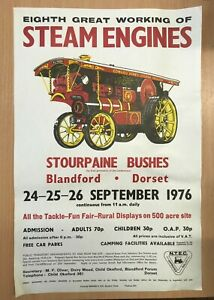 Great Dorset Steam Fair 1976 A3 Poster from the show's archive