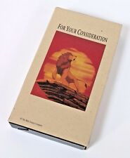 RARE Disney LION KING For Your Consideration Academy Award VHS Cassette Movie