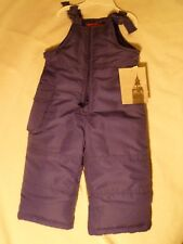 London Fog Toddlers Snow Bibs Purple 12M NWT MSRP $34.00