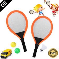 Kinder Badminton Set Schläger Federball Badmintonschläger Tennisschläger +Tasche