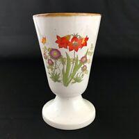 Vintage Mid Century Modern Bud Vase Ceramic Pottery Floral with Brown Splatter