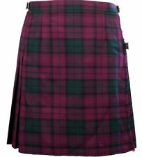 648175d8b4921 12oz Wool Ladies Knee Length Skirt Kilt Lindsay Tartan Size UK 22