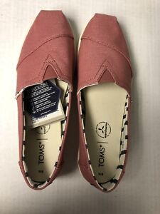 Toms Alpargata Cupsole Canyon Rose Canvas Womens 8 NEW In Box Shoes