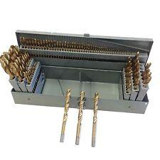 115PC HSS INDEX TITANIUM DRILL BIT SET METAL STEEL FRACTIONAL NUMBER AND LETTER