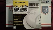 6-First Alert SC9120B Carbon Monoxide & Smoke Alarm AC Power & Battery (6 Pack)