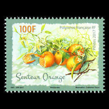 """French Polynesia - """"FRUITS ~ ORANGE"""" MNH Scented Fragrance Stamp 2017 !"""