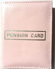 Pink faux leather pension card bus pass holder wallet with pockets, 2 for £1.29