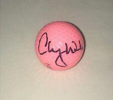 Cheyenne Woods signed Pink Wilson Hope Golf Ball autographed LPGA USA Proof