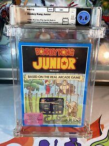 Donkey Kong Junior Wata 9.6 A++ Sealed 1983 Blue Box 3rd Party LRB Seam Mario