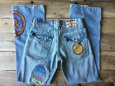 Rare True Religion Society Club Jimi Hendrix Rock Star Hippie patch Jeans 30/33