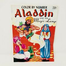 Vintage Color By Number Aladdin And His Magic Lamp Coloring Book