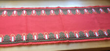 """Vintage W. German """"Areda� Poly Table Runner~14�X38�~Christ mas Candles"""