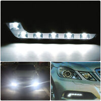 2X Universal 6 LED White Daytime Running DRL Day Light Car Fog Front Head Lamp