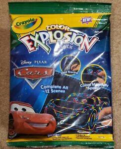 Crayola Color Explosion Disney Pixar Cars, Black Scenes- Brand New