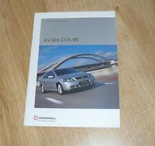 VAUXHALL ASTRA Coupé brochure 2001 - 1.8 16 V Coupe 2.2 Bertone 2.0 Turbo Edition