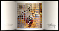 TINTIN - HERGE  Carte de Voeux 1989  Tableau de DEJAEGER   21X21 cm