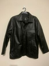 Mens JONATHAN ADAMS 100% Genuine Leather Coat - Size XL