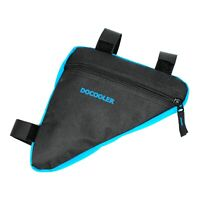 Blue Triangle Bicycle Pouch Bike Frame Bag Cycling Riding Connects Frame Tools