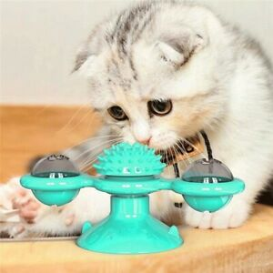 Turning Tickle Cat Windmill Toys Whirling Ball Pet Turntable Kitten Play Game