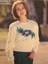 Patons Floral Sweater Double Knitting Pattern C 4239