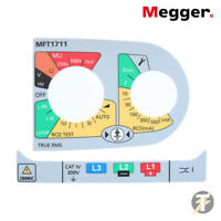 Megger Multifunction Tester spare / replacement label set for MFT1711 1008-574