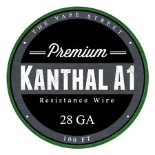 100FT - 28 GA The Vapest Kanthal A1 Round Resistance Wire AWG Gauge 100' 0.32mm