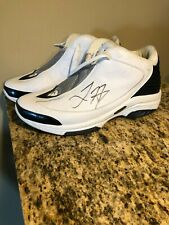 LARRY HUGHES SIGNED BASKETBALL GAME USED WORN SHOES CAVALIERS BULLS MAGIC