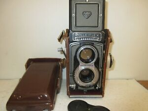 """Rolleiflex Original T Grey 6x6 """" SYNCHRO COMPUR """", Tessar 1:3, 5-f 75mm"""