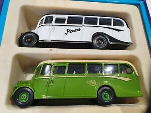RARE CORGI 1/50 SCALE TWIN BUS SET ISLAND TRANSPORT 2 X JERSEY BEDFORD OB...