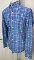 VINEYARD VINES Men's Blue Slim Fit Tucker Long Sleeve Plaid Shirt Extra Small XS