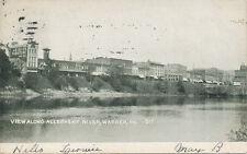 Warren PA * View Along Allegheny River  1907 * Business Area