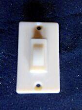 Petit interrupteur plat mural électrique-poussoir-plastique-neuf-self outils
