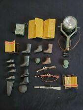 Vintage Gi Joe Equipment Lot Guns, Boots, Light, Chairs, Other Misc. Items