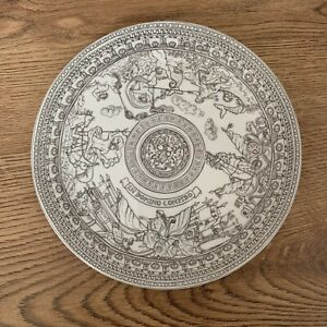 National Trust Scotland Decorative Plate House of Dun White Grey Domino Confido