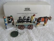 DEPT 56 - New England - A NEW POTBELLIED STOVE FOR CHRISTMAS - MINT - Set of 2