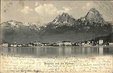 Brunnen Schweiz Schwyz AK 1903 Mythen Berge Alpenkette Alpen See Gewässer Gipfel