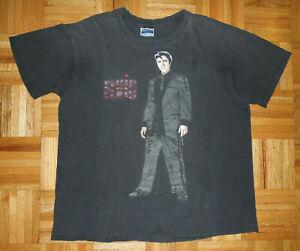 T Shirt Vintage 80s Elvis Presley King of Rock n Roll Single Stitch Thrashed XL