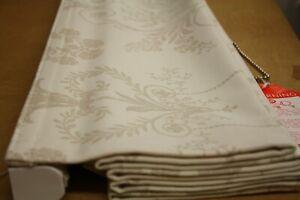 Roman Blind, Laura Ashley Josette Off White/ Dark Linen fabric
