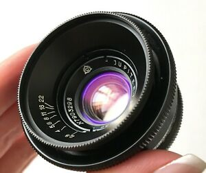 JUPITER 12 F2.8/35mm mount M39 black USSR lens for Rangefinder camera EXC