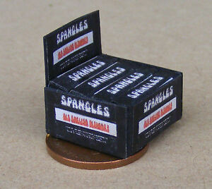 1:12 Scale Display Box Of Old English Spangles Packet Tumdee Dolls House Sweets