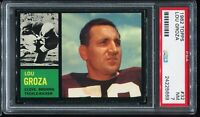 1962 Topps Football #32 LOU GROZA Minnesota Vikings PSA 7 NM