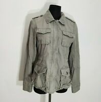Banana Republic Travel Safari Womens Jacket Size S Cotton Utility Distressed Zip
