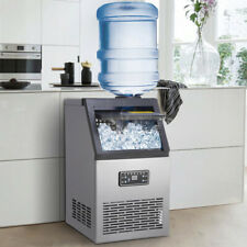 More details for auto commercial ice maker stainless steel machine 80kg/24hr free ice scoop 310w
